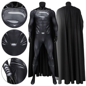 Superman Clark Kent DC Justice League Jumpsuit Cosplay Costume - Free Shipping