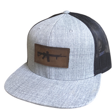 Load image into Gallery viewer, AR-15 Leather Patch Hat