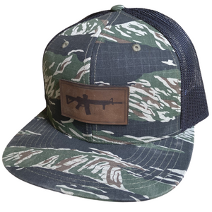 AR-15 Leather Patch Hat