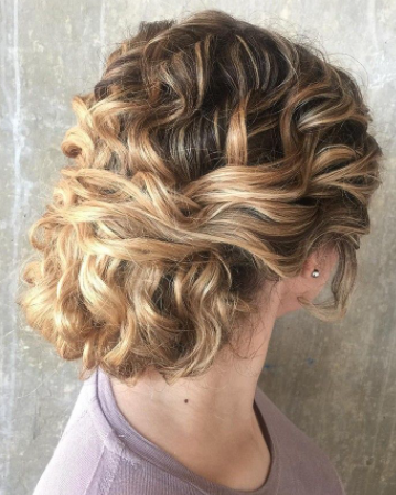 curly chignon hairstyle for curly hair