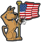Dane with American Flag vinyl decal