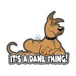Dane Lying Down vinyl decal