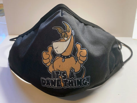 Thumbs Up Dane Face Mask — Black