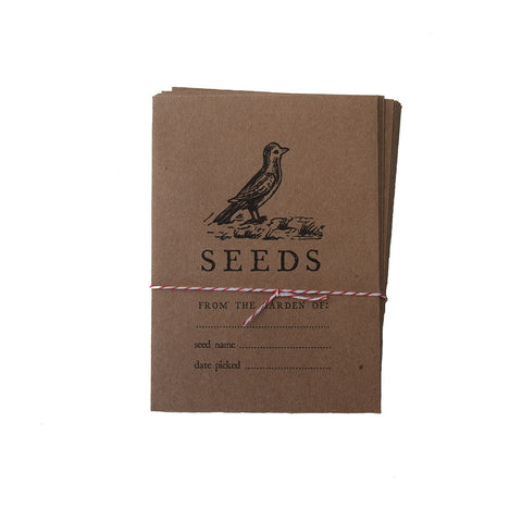 Letterpress Seed Saving Envelopes