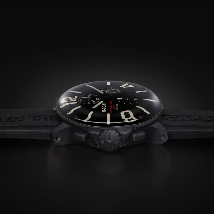Uboat Capsoil Chronograph DLC Black - The Independent Collective Watches
