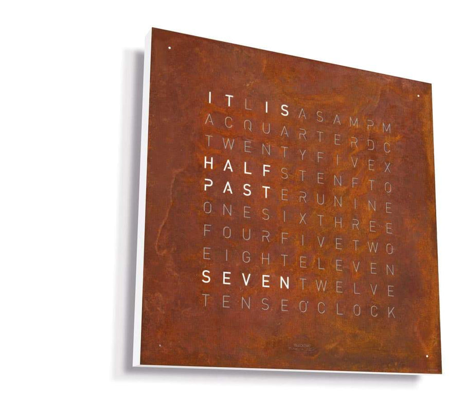 Qlocktwo Collectors Edition Large Rust 90cm x 90cm : Made to Order - The Independent Collective Watches