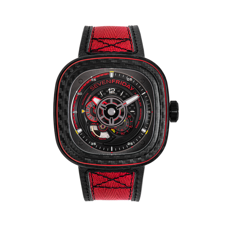 SEVENFRIDAY P3C/04 : RED CARBON