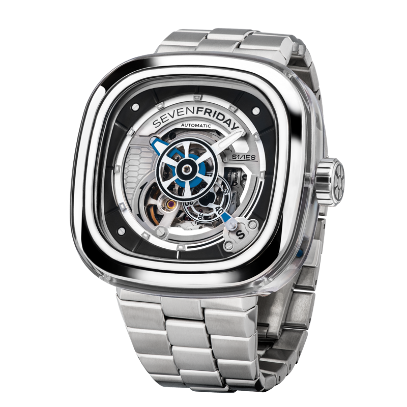 SEVENFRIDAY S1/01M: CRYSTAL CLEAR - METAL UPGRADE
