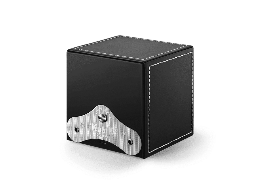 MASTERBOX QUATTRO BLACK LEATHER WHITE STITCHES w/WINDOW
