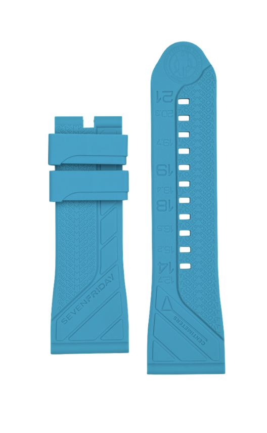 Turquoise Rubber Strap - The Independent Collective Watches