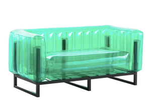 Yomi Sofa Black Frame - Crystal Green