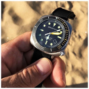 Briston Clubmaster Diver Pro Steel Yellow