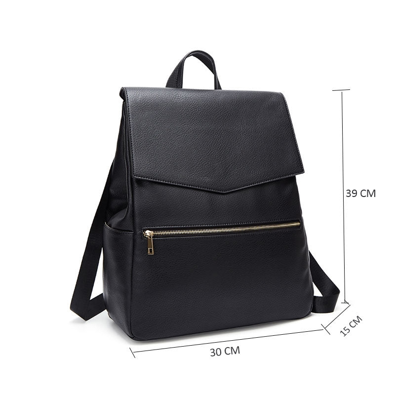 Image showing dimensions of black backpack changing bag 30cm x 15cm x 39cm