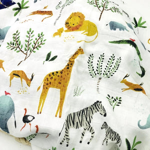 Extra Large Muslin In Safari Print