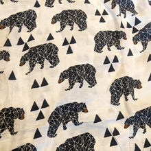Load image into Gallery viewer, Extra Large Muslin In Geo Bear Print
