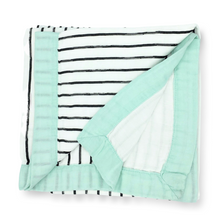 Load image into Gallery viewer, Bamboo Baby Blanket In Stripe Print