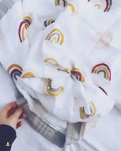 Load and play video in Gallery viewer, Rainbow Bamboo Baby Blanket