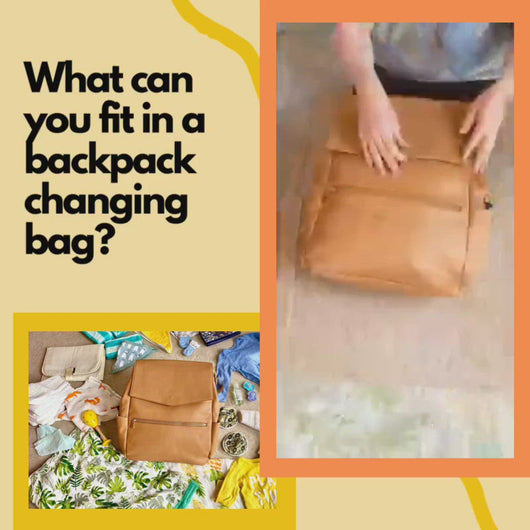 Video demonstrating what you can fit in a Little Wolves backpack changing bag