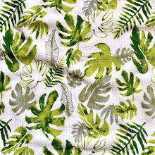 Load image into Gallery viewer, Extra Large Muslin In Tropical Leaf Print