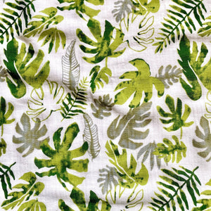 Extra Large Muslin In Tropical Leaf Print