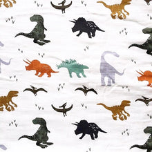 Load image into Gallery viewer, Extra Large Dinosaur Muslin Cloth