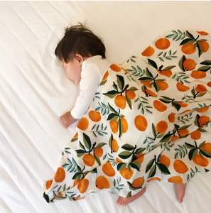 Extra Large Muslin In Oranges Print