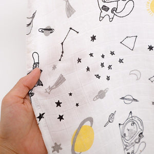 Extra Large Muslin In Space Cat Print