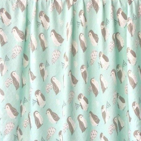Close up of penguin baby blanket print