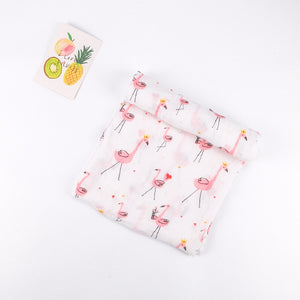 Extra Large Muslin In Flamingo Print