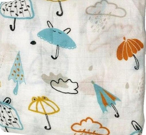Extra Large Muslin In Umbrella Print