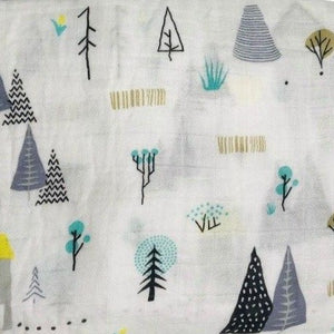 Extra Large Muslin in Winter Tree Print
