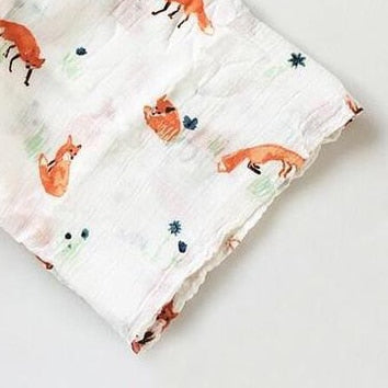 Extra Large Muslin In Fox Print