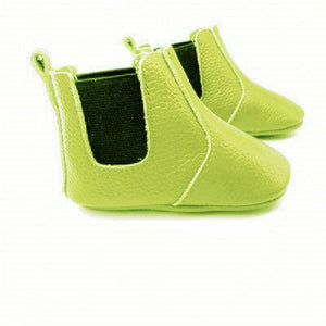 Green Baby booties - Genuine Leather
