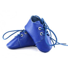 Load image into Gallery viewer, Genuine Leather Baby Shoes in Royal Blue