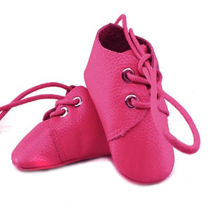 Genuine Leather Baby Shoes in Hot Pink