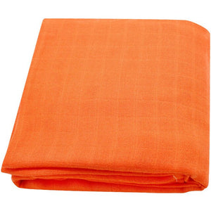 Extra Large Muslin Square In Orange
