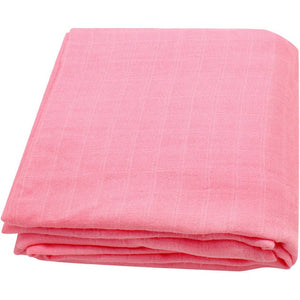 Extra Large Muslin Square In Pink