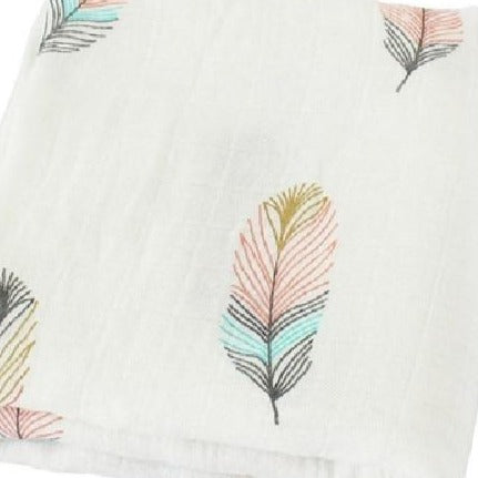 Extra Large Muslin In Feather Print