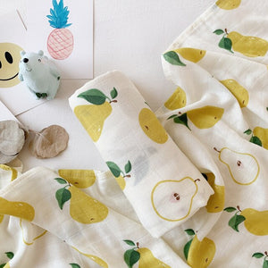 Extra Large Muslin In Pear Print