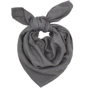 Small Muslin Cloth In Dark Grey