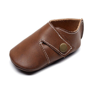 Genuine Leather Baby Shoes in Chocolate Brown