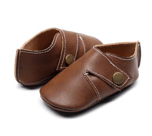 Load image into Gallery viewer, Genuine Leather Baby Shoes in Chocolate Brown