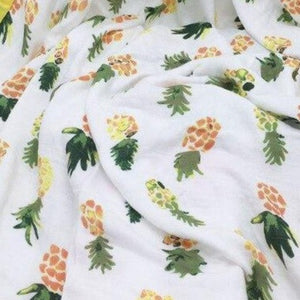 Extra Large Muslin In Pineapple Print
