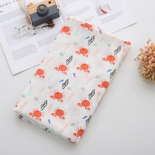 Extra Large Muslin In Crab Print