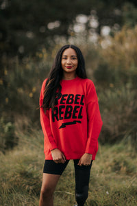 'Rebellious' Jumper in Red (One Size)