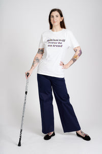'Never on Trend' Disability Awareness T-Shirt