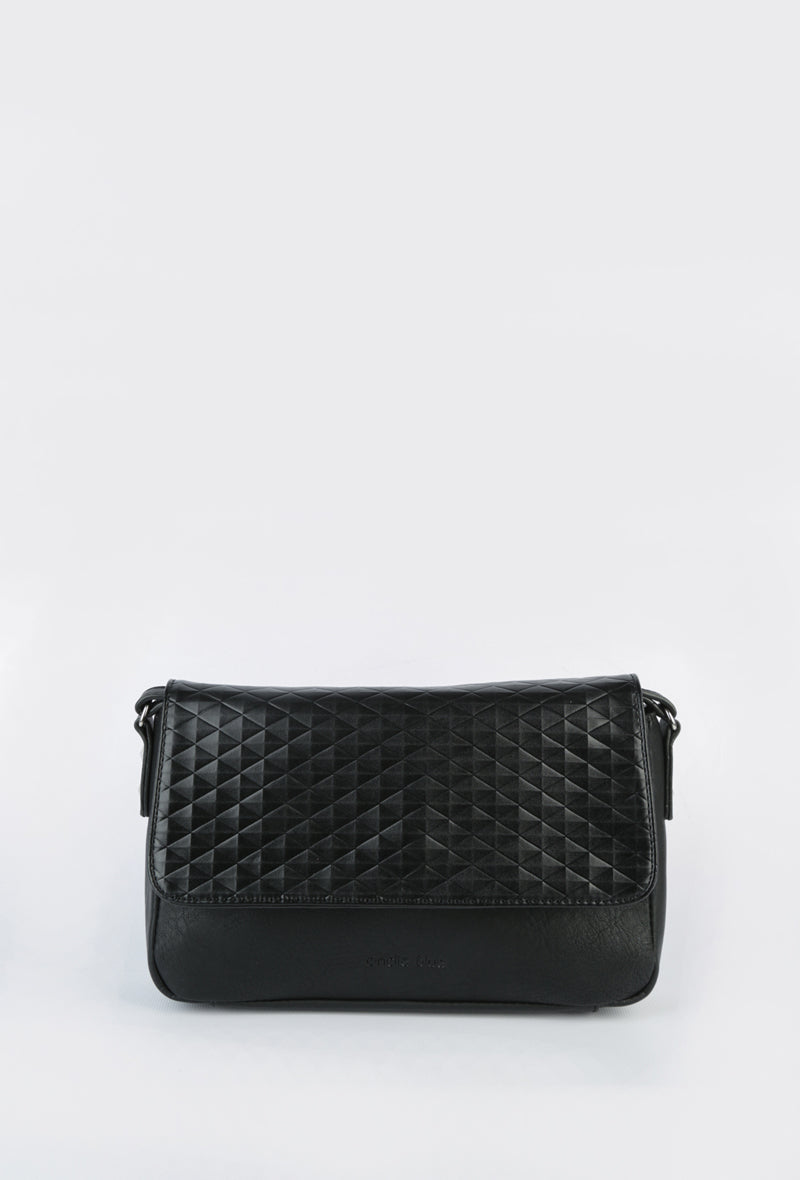 'Andie Blue' Shoulder Bag in Black