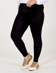 Plus-size fleece-lined leggings