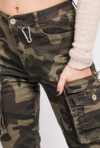 'Camo Girl' trousers with pockets
