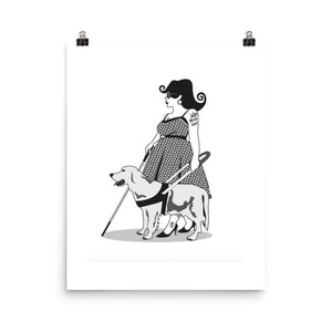 'Fifties Chick' Visually Impaired Pinup Print
